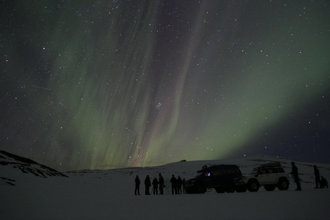 Northern Lights on Eyjafjallajökull by Super Jeep photo 2