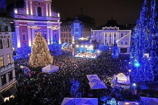 Festive Ljubljana by Night from Bled