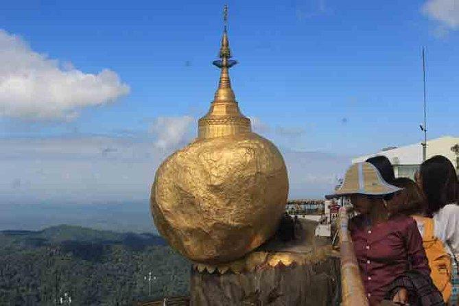 Excursão para grupos pequenos: Pagode Kyaiktiyo e Bago saindo de Yangon com almoço