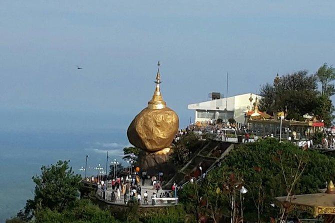 Excursão privada em um dia ao pagode de Kyaiktiyo saindo de Yangon