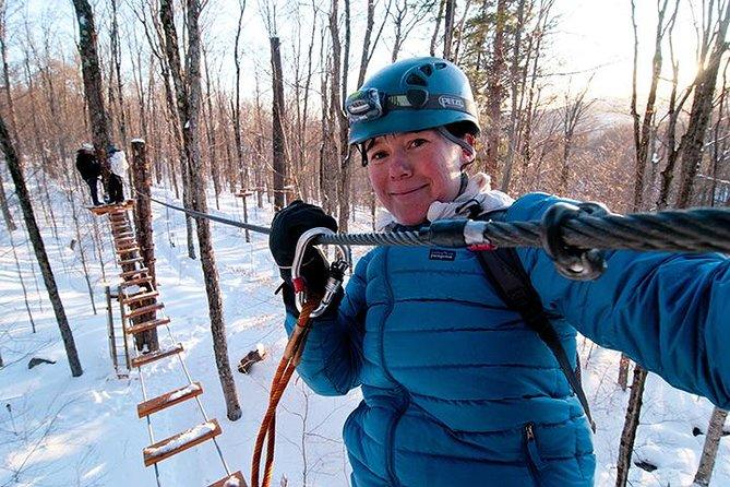 Tyroliens d'hiver et parcours d'arbre Mont-Tremblant