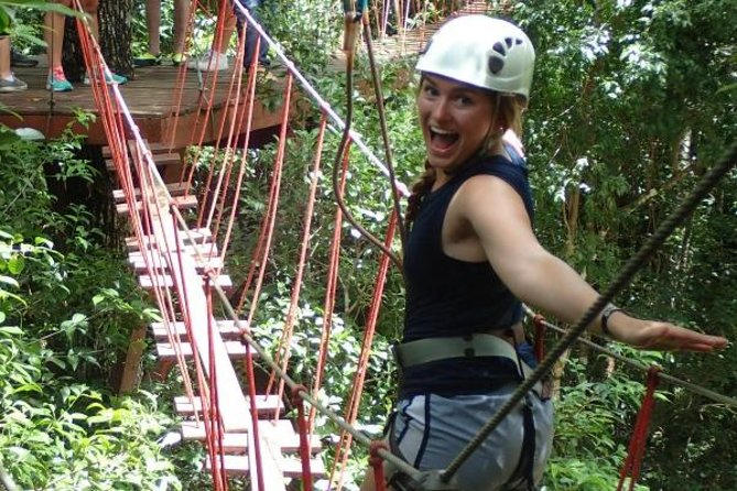 Selva Maya Eco Adventure Park: Ziplining, Hanging Bridges, Rappelling and Cenote