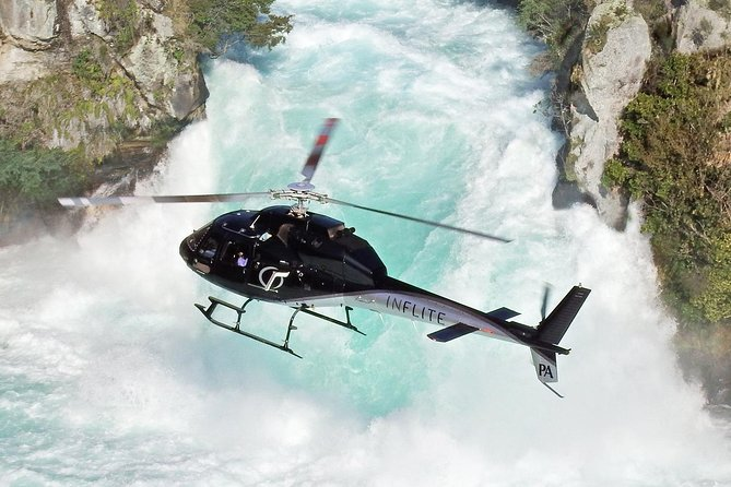 Huka Falls & Maori Rock Carvings Helicopter Scenic Flight