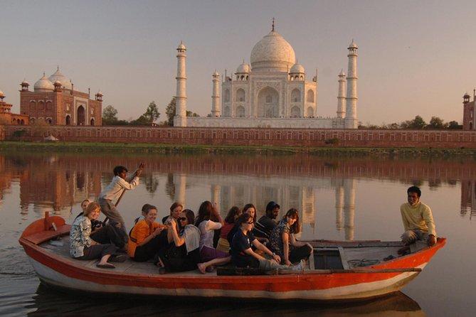 Sunrise Taj Mahal Agra Private City Tour with Boat Ride