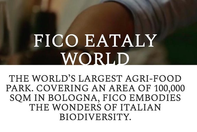 Ontdek het grootste voedsel- en wijnpark ter wereld in Florence, Florence