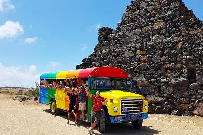 Colorful Beach Bus Sightseeing Tour of Aruba