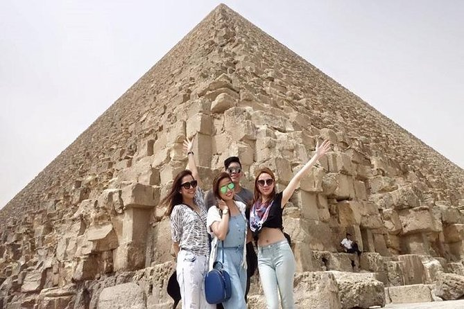 Giza Pyramids Day Trip include enter inside the Great Pyramid and Solar boat