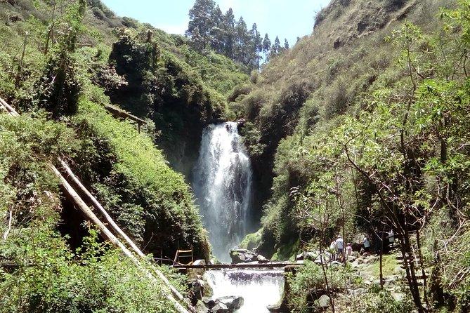 The beautiful Peguche waterfall