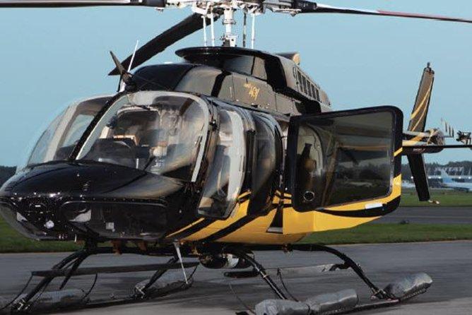 Privat helikopteröverföring från Lower Manhattan till New York Flygplatser