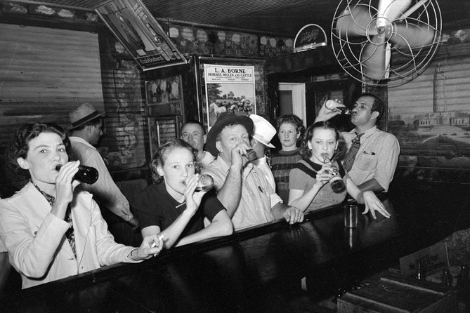 Have a drink at the speakeasy