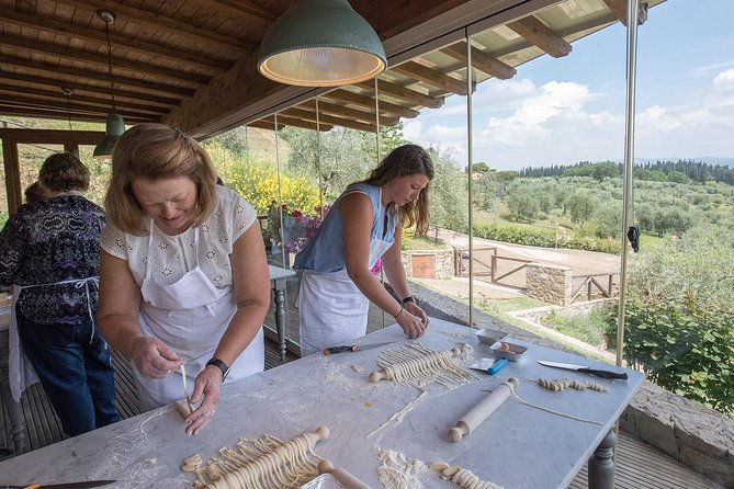 Cooking Class and Lunch at a Tuscan Farmhouse with Local Market Tour from Florence