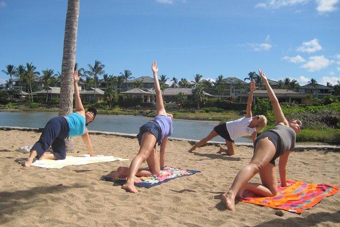 Morning Yoga Stretch At Anaehoomalu Bay