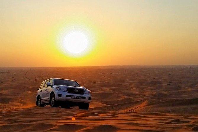 Sun Rise Desert Safari & Sandboarding Camel Ride