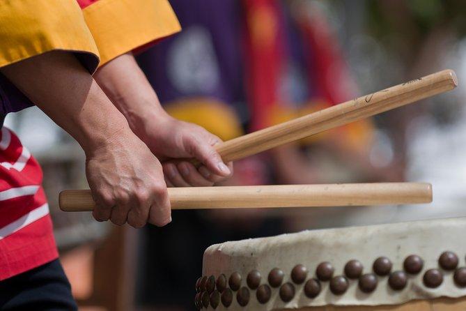 Japansk Taiko trommel leksjon i Kyoto