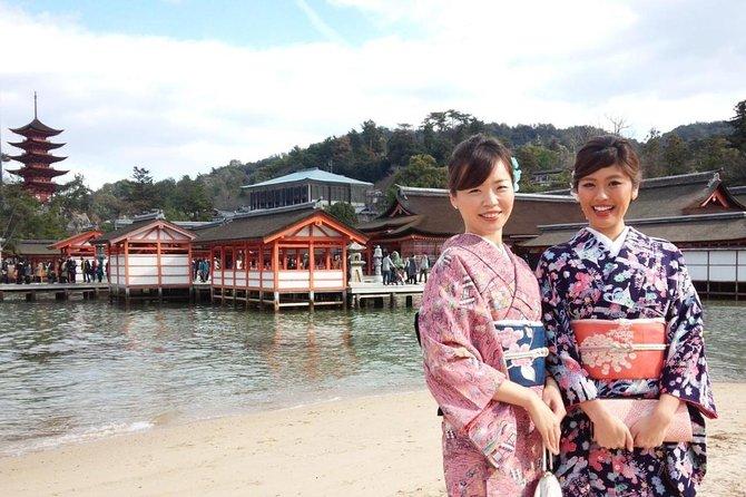 Miyajima plan de turismo con kimono de alquiler de alta calidad