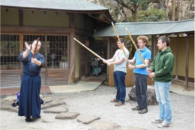 Hiroshima Misen Mountain Temple, Calligraphy and Kendo Experience with lunch