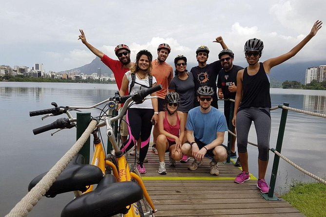 Carioca Sunset Bike Tour including Beaches Lagoon and Botanical Garden Visit