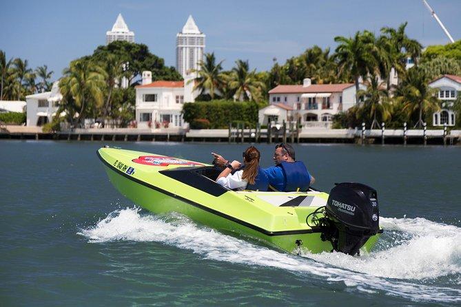 Aventura en lancha rápida en Miami
