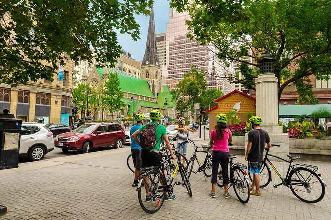 3Hr Montreal City Bike Tour with regular or electric bikes, Beer & wine included