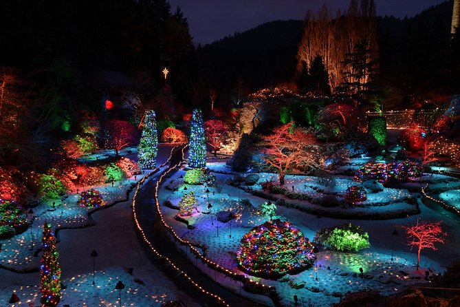 The Magic of Christmas at Butchart Gardens Shuttle and Entry