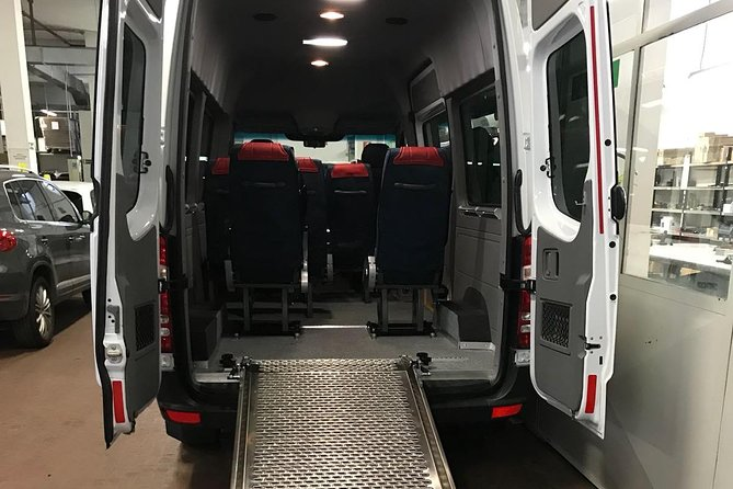 Minivan suitable for transporting disabled people with a wheelchair