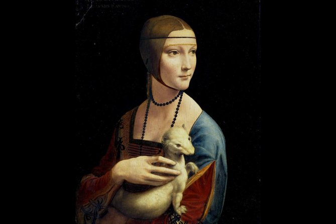 Leonardo da Vinci's - Lady with Ermine on The Princess Czartoryski Museum