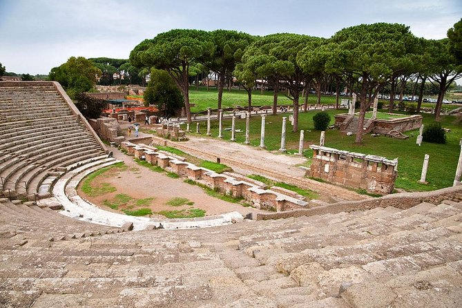 Classic Car Tour of Rome and Ostia seaside, including Light Lunch and Guided Ostia Antica Site