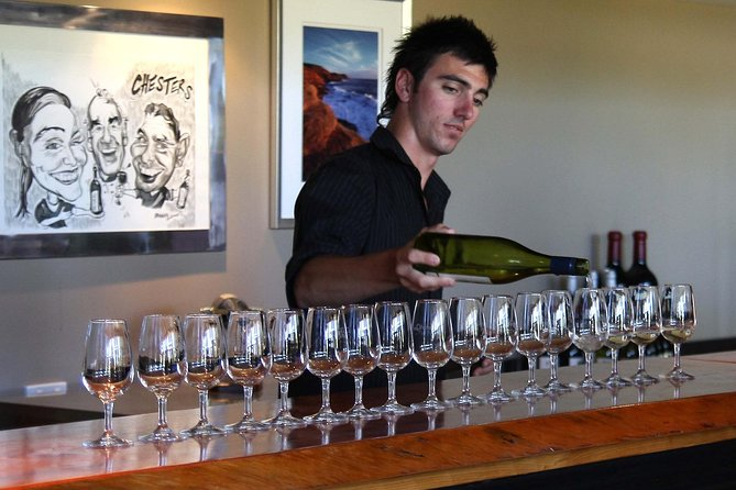 Tasting at Heafod Glen Wines