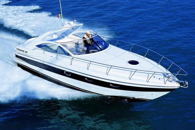 Private Luxury Motorboat in a Pershing 37 Yacht from Monaco