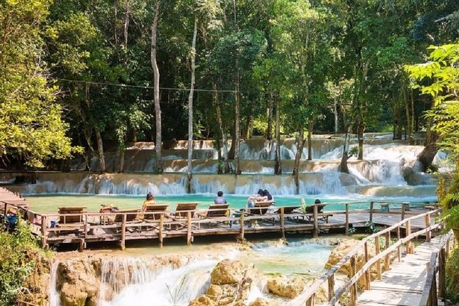 Private transfer to Tad Sae Waterfalls