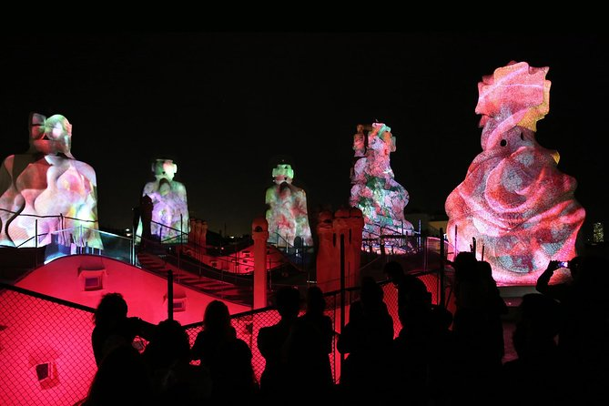 La Pedrera Night Experience: Visit + Audiovisual Display on the Roof Terrace