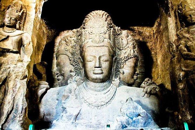 Excursión de medio día a la Puerta de la India y las cuevas de Elephanta