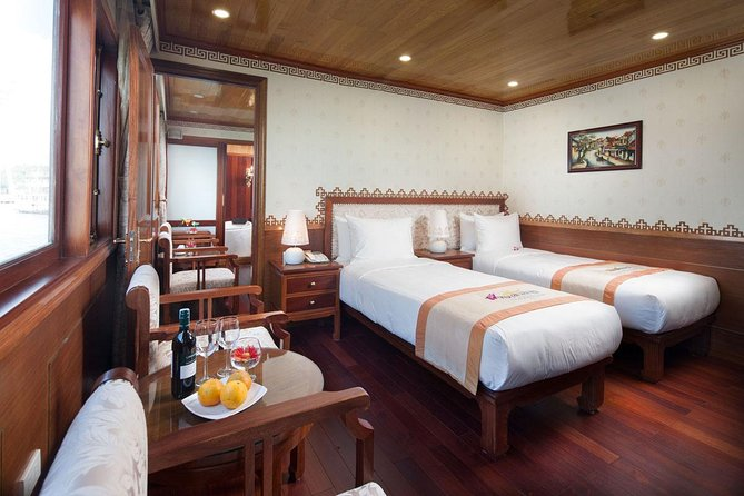 Halong Royal Wings Cruise 2days 1night swim at Ban Chan Beach depart from Ha Noi