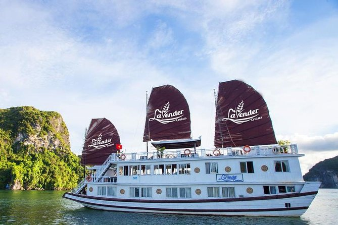 Halong Lavender Cruise 2day 1night visit Titov Island Surprising Cave from Hanoi