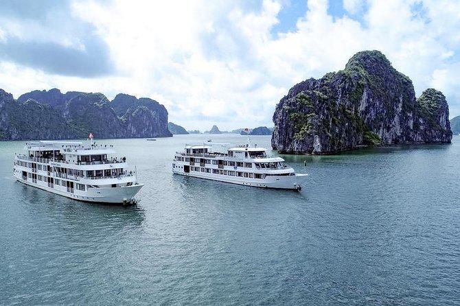 Athena Elegance Cruise 2 days 1 night discovering Bai Tu Long Halong from Hanoi