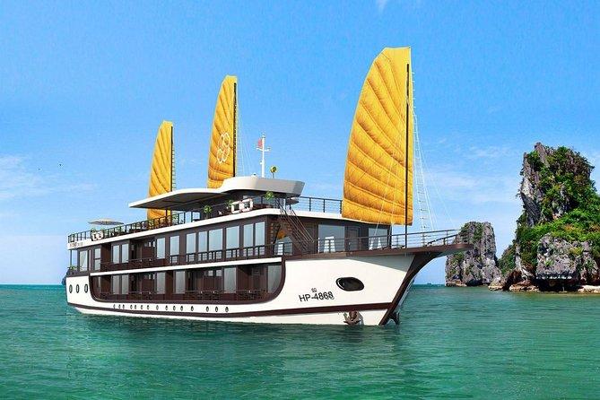 Peony Cruise Lan Ha Bay Halong Bay 2 days 1 night depart from Hanoi Old Quarter