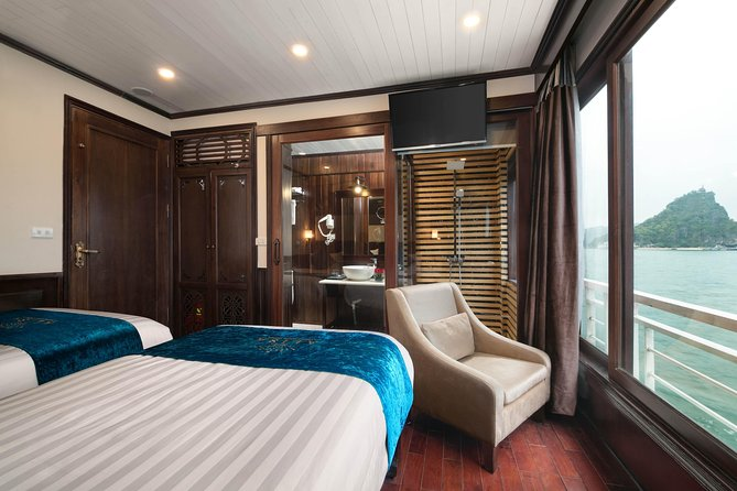 Halong Alisa 5 Star Cruise Visiting And Kayaking On Peaceful Beaches And Caves
