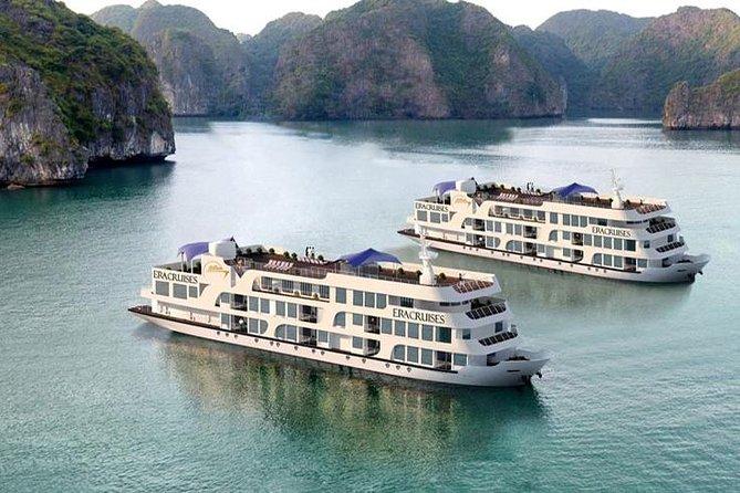 Newly Halong Era Cruise visiting and kayaking at Halong bay 2 days 1 night
