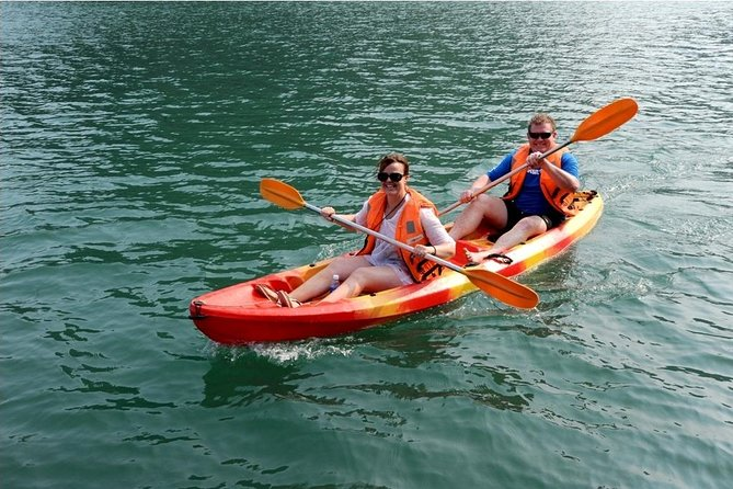 Halong Bay 2 Day overnight on 3 star cruise visit cave kayak swimming from Hanoi