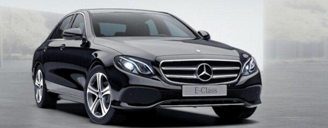 Rent a Car for Wedding: Black Mercedes E Class