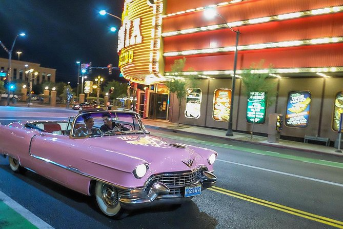 Cadillac Las Vegas >> Private Las Vegas Night Tour With Elvis In Pink Cadillac Convertible