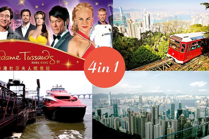 E-Tickets: 2-way HK-Macau ferry, Peak Tram, Madame Tussauds Museum & Sky Terrace