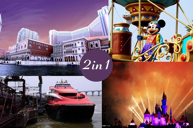 E-Ticket Combo: Hong Kong Disneyland plus 2-Way HKG to Macau Turbojet Tickets