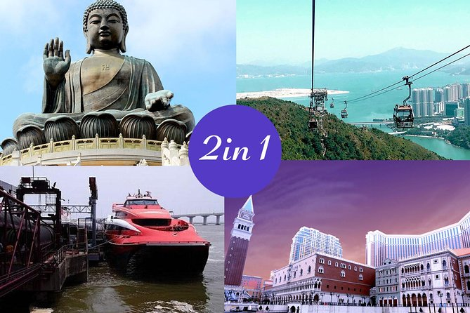 Roundtrip Turbojet ferry from Hong Kong to Macau with Ngong Ping 360 Tickets