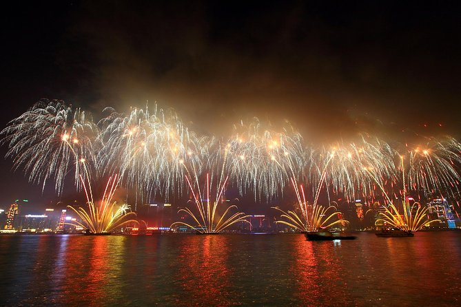 Hong Kong Handover to China Anniversary Fireworks Cruise plus City Overview Tour
