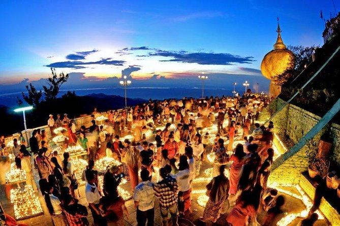 Excursão noturna privada de rocha dourada e Bago saindo de Yangon