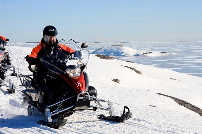 Half-Day Snowmobile Safari including Lunch in Helsinki Archipelago