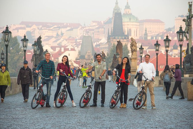 Prague E-scooter Sightseeing Small Group or Private Tour & Free Taxi Pick Up