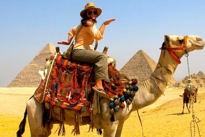 Private Day Tour of the Giza Pyramids and Pharaonic Village with Camel Ride