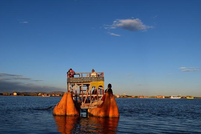 Sunrise on the Floating Uros Island